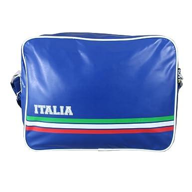 3b85c88b7b7a Retro Style Italia Football Sports Bag Unisex School Bag Gym Bag Flight  Shoulder Cross Messenger Bag All Weather Classic Airline Flight Bag   Amazon.co.uk  ...