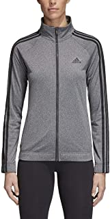 adidas Womens Designed 2 Move Track Top, Gray/Black, Small
