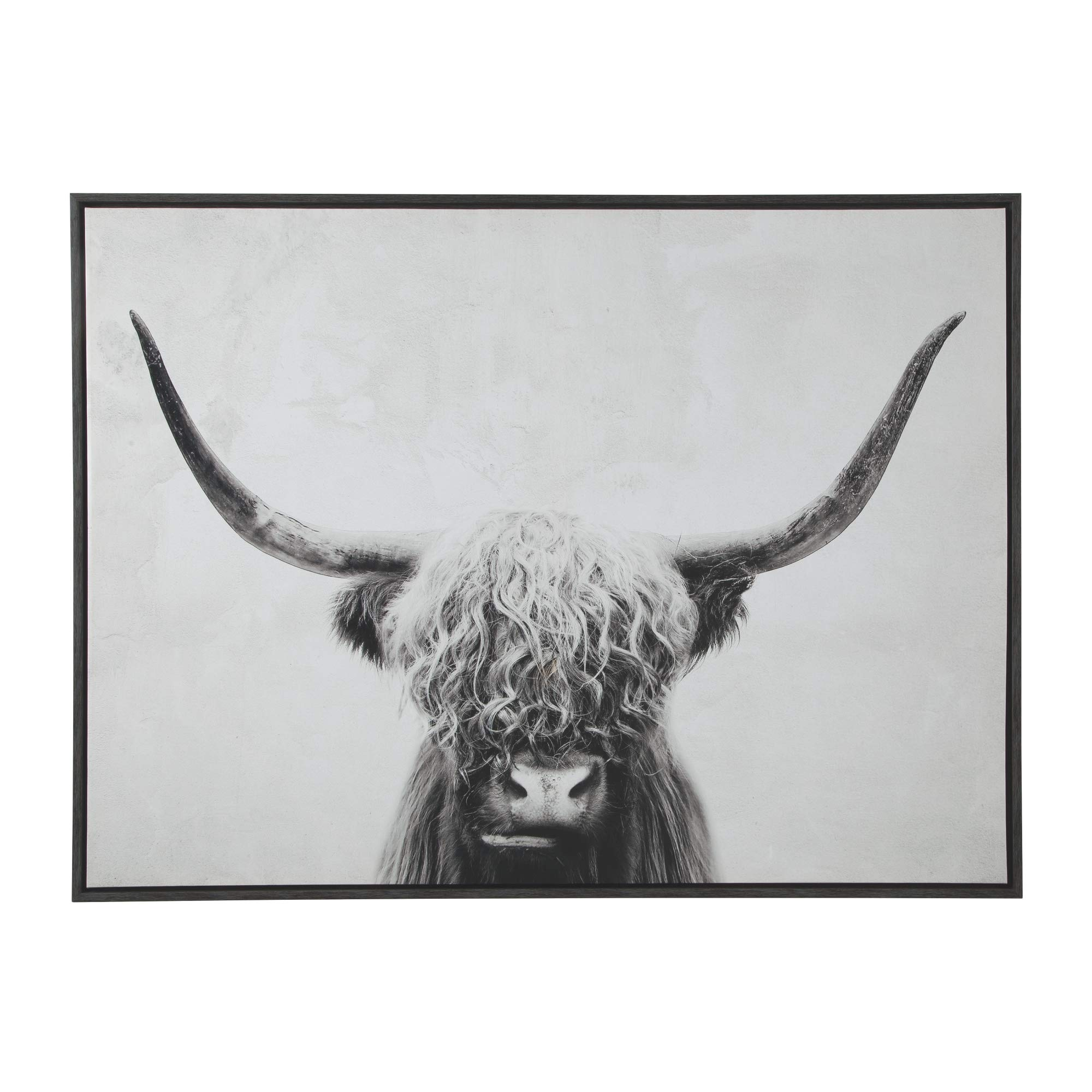 Ashley Furniture Signature Design - Pancho Highland Cow Wall Art - Casual - Black/White by Signature Design by Ashley