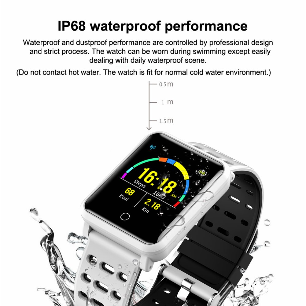CanMixs SmartWatch CM05 IP68 Pantalla táctil a prueba de agua ...