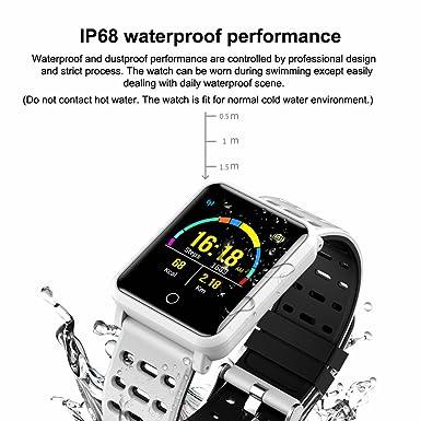 CanMixs SmartWatch CM05 IP68 Pantalla táctil a prueba de agua Muñeco Rastreador de actividad física Pulsera Podómetro con monitor HR Monitor de sueño ...
