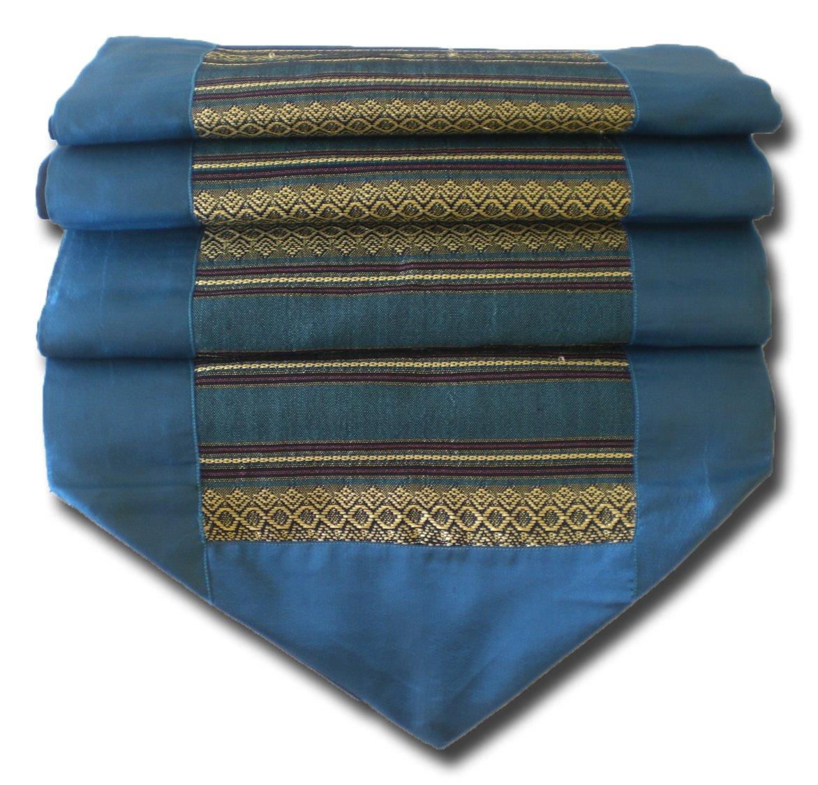 soljo - tablecloth tablerunner table runner linen Thai Silk Elegant precious stripped 200 cm x 30 cm many colors (jade) by by soljo