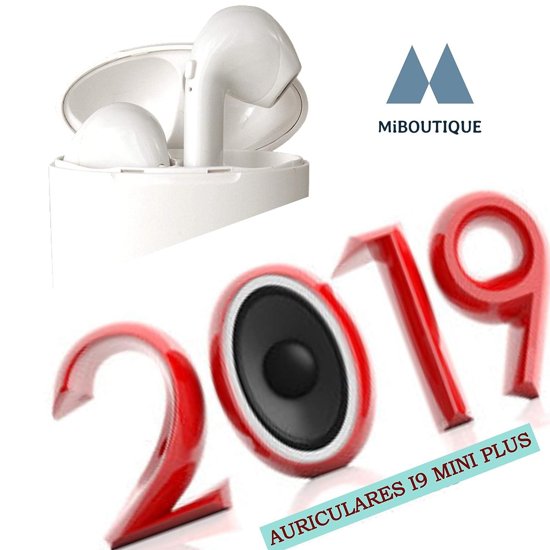Auriculares inalambricos, i9 Mini S, Bluetooth 5.0 Magnético Wireless, Cascos 45º angulas de máxima Potencia y Calidad de Sonido BATERIA 3H | Carga portatil ...