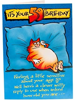 Birthday card plk8046 humorous 50th birthday amazon its your 50th birthday humour birthday greetings card bookmarktalkfo