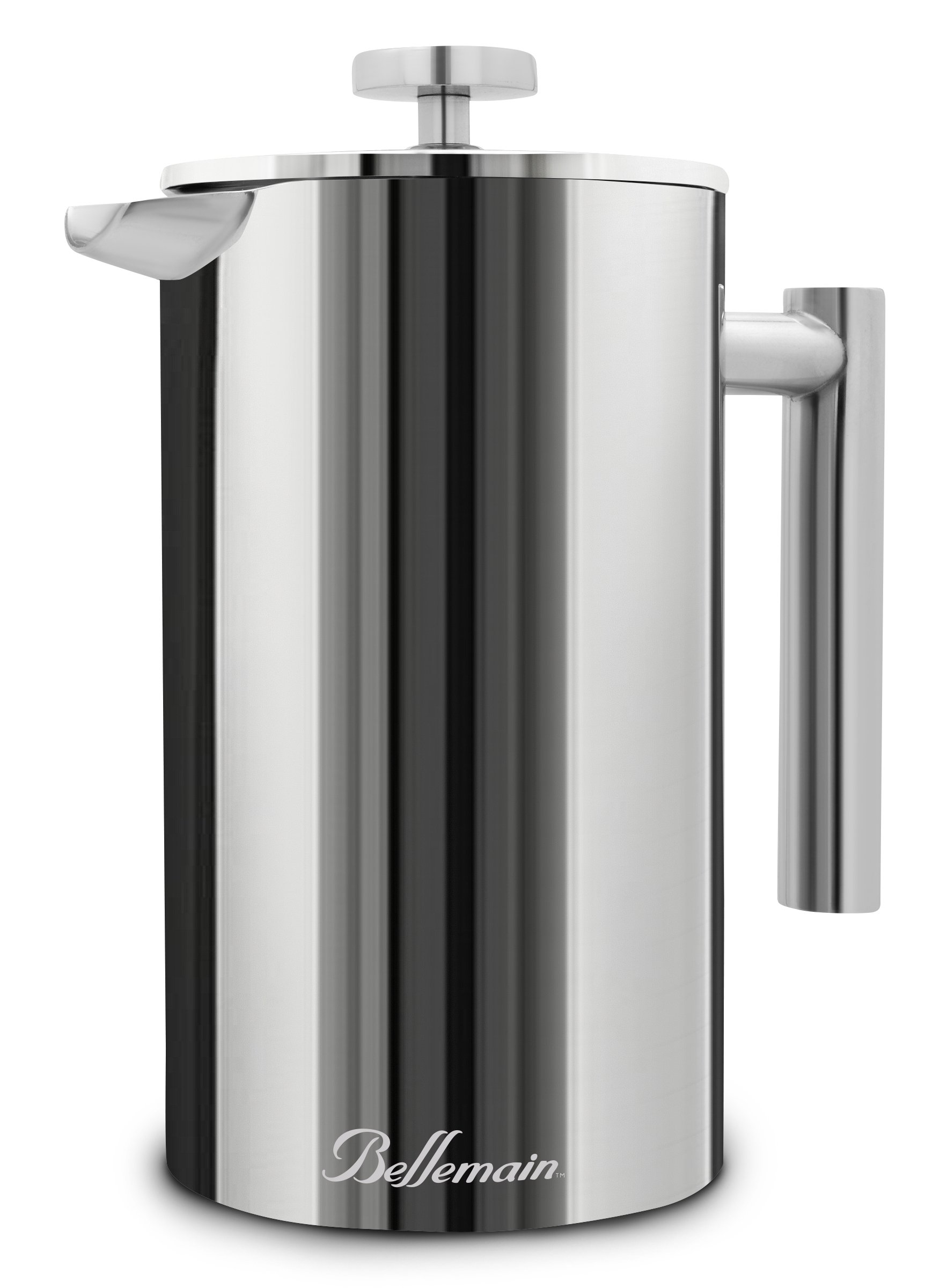 Bellemain French Press - Extra Filters Included - Coffee and Tea Maker - Stainless Steel - 34 fl. oz (1 Liter). - 2-Year Warranty