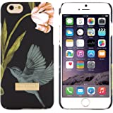 Ted Baker AW15 Women's Collection Back Cover for iPhone 6S / iPhone 6 Bird Design, Fashion branded Designer Snap on Back Cover for iPhone 6S and iPhone 6 - Black