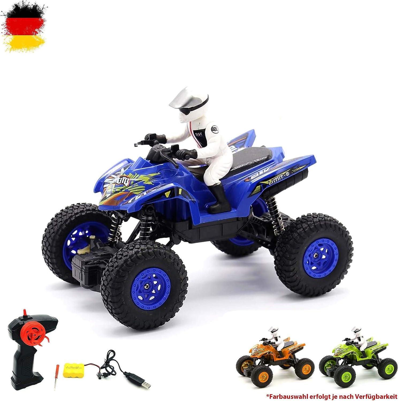 Vehículo teledirigido todoterreno, motocicleta, motocross, coche, incluye control remoto, batería y cargador.