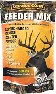 Orange Corn Company / Orange Flavored Feeder Mix / Concentrated Deer and Wildlife Attractant That Drive Whitetail Bucks Crazy Treats 300lbs of Corn