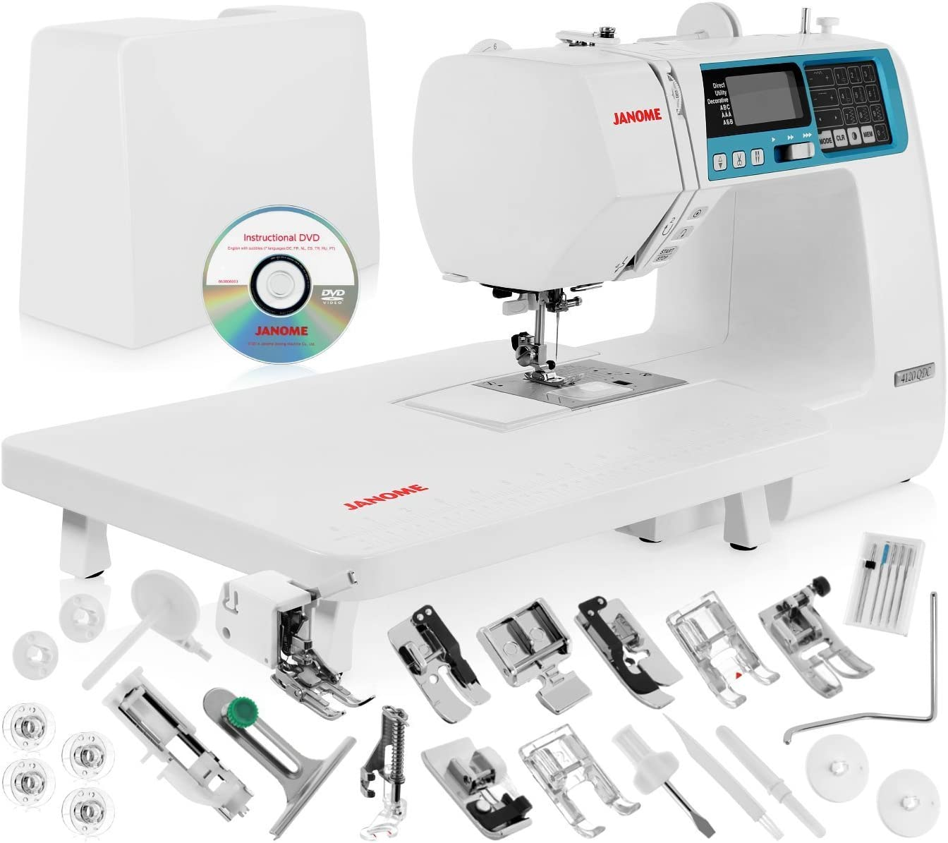 Best for beginners: Janome 4120QDC Computerized Sewing Machine