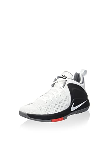 f549cf6cf9fe7 Nike Mens Lebron Zoom Witness Sneakers 852439 White Black Cool Grey (9