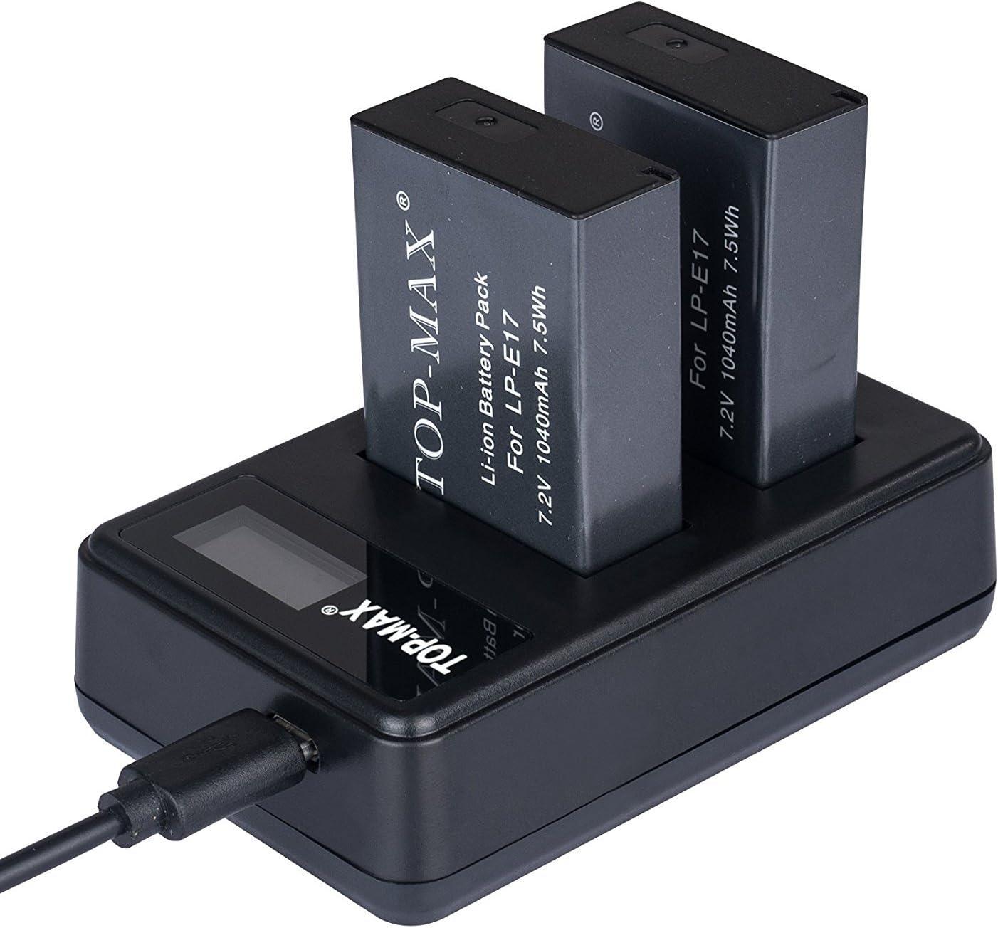 LP-E8 Cargador USB Dual para Canon EOS 700d, EOS 650d, EOS 600d, EOS 550d cámara réflex Digital, Canon Battery Grip BG-E8, Cargador de batería Canon LC-E8E: Amazon.es: Electrónica