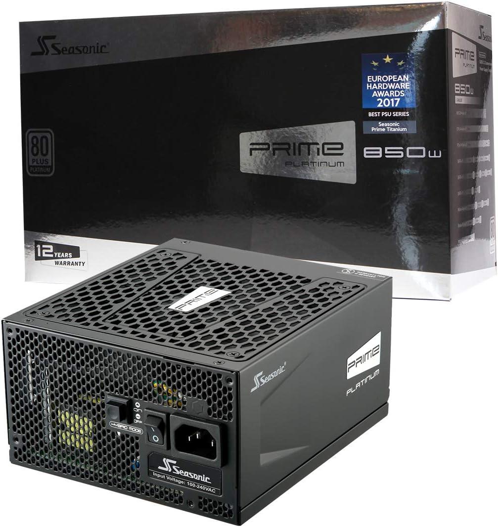 Seasonic PRIME 850 Platinum SSR-850PD 850W 80+ Platinum ATX12V & EPS12V Full Modular 135mm FDB Fan Power On Self Tester Power Supply