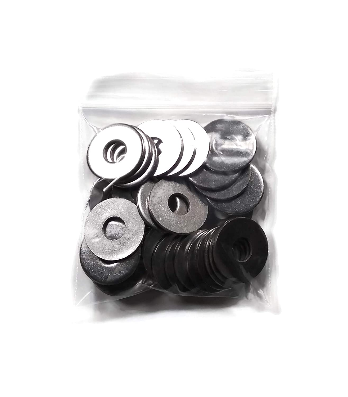 30pcs M8 304 Stainless Steel Flat Plain Washer Spacer Silver Tone