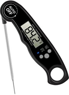 GoldWorld FDA Meat Thermometer- Waterproof Food Thermometer with Stainless Steel Probe for Kitchen Cooking BBQ