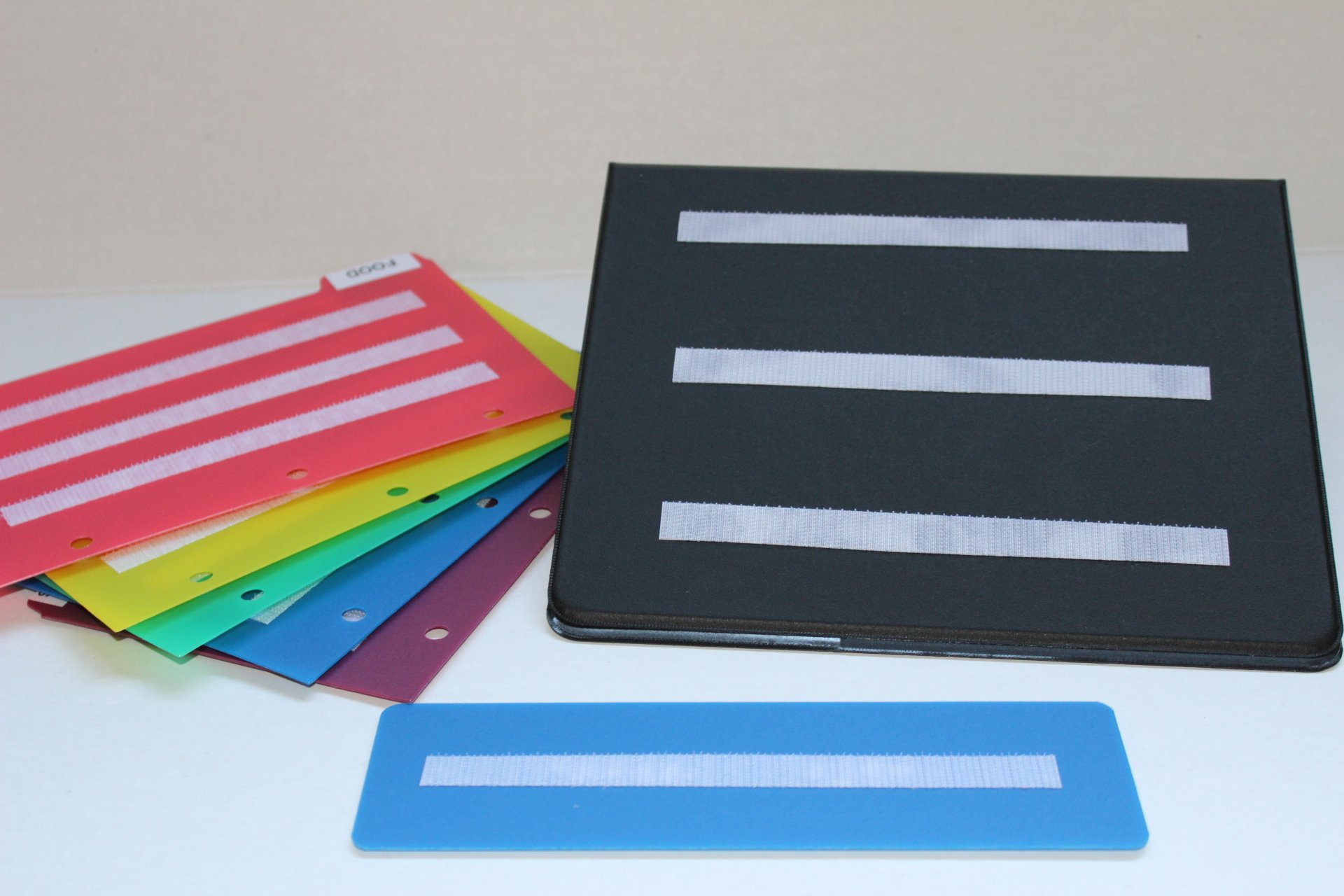 Small Black Picture Photo Book with 5 Color Dividers Measured 8.5x5.5 perfect to keep your loose cards organized. by www.smile4autism.com