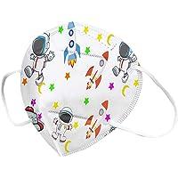 50 Niños Desechables con Protección 3 Capas Transpirables con Elástico para Los Oídos Bolsa para Actividades al Aire…
