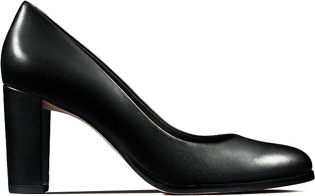 Ladies Clarks /'Kaylin Cara/' Smart Block Heel Court Shoes