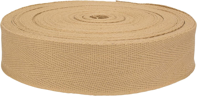 Country Brook Design 1 1/4 Inch Tan Herringbone Cotton Binding Tape Closeout