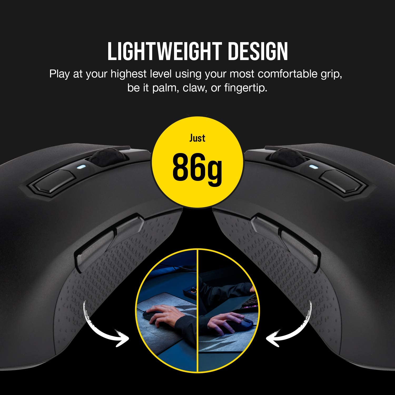 CORSAIR M55 RGB Pro Ambidextrous Gaming Mouse lightweight design