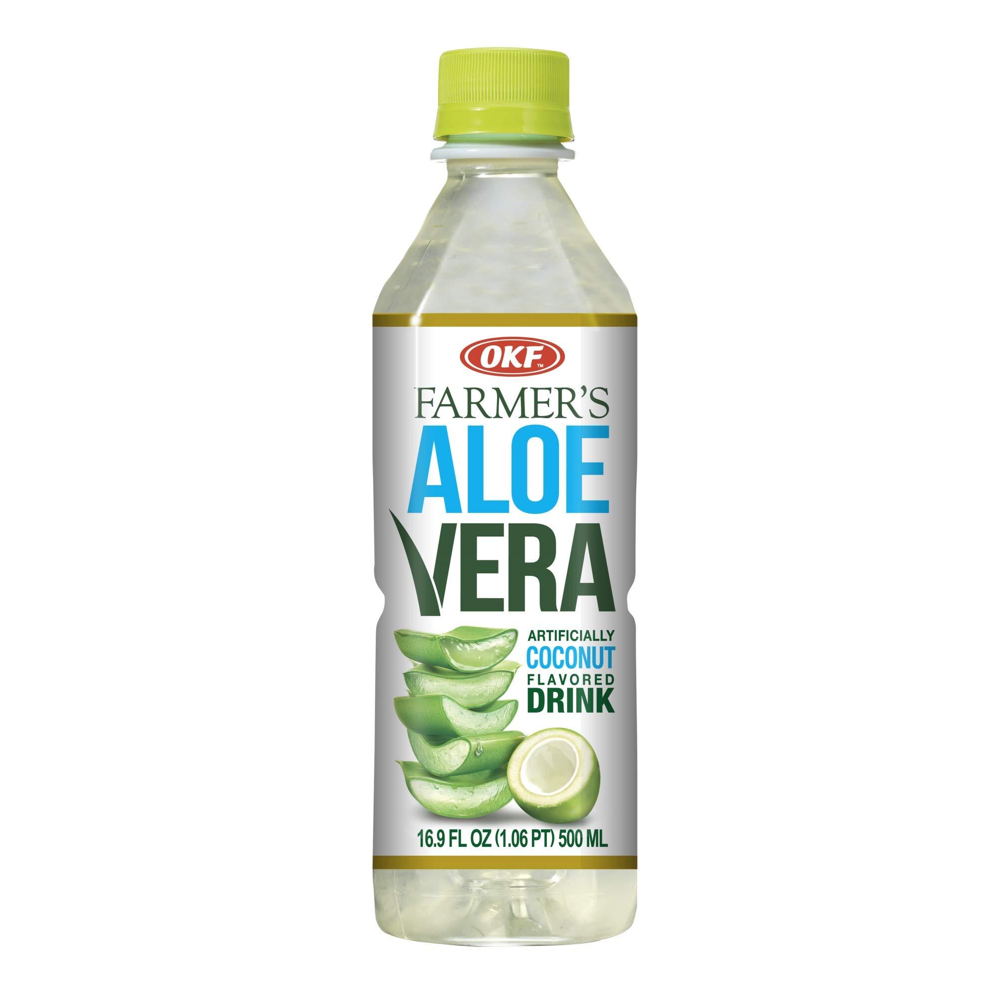 OKF Farmer's Aloe Vera Drink, Coco, 16.9 Fluid Ounce (Pack of 20) by OKF