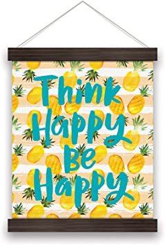 Amazon Com Studio Oh Canvas Wall Banner Be Happy Pineapples Wh002 Office Products