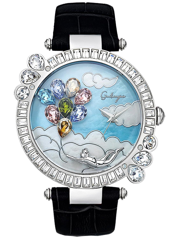 [ガルティスコピオ] Galtiscopio 腕時計 BBSS001BLS BB2 ブラック スワロフスキー クリスタル キラキラ ユニセックス 日本正規総代理店 [正規輸入品] [時計] B00MIP8I18