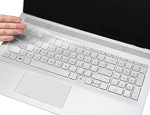 CaseBuy Keyboard Cover for 2020 HP Envy x360 2-in-1 15.6 with Fingerprint Reader 15M-ED0013DX ED0023DX EE0013DX EE0023DX / HP Envy 17T 2020 17.3 with Fingerprint Reader, Ultra Thin TPU Protector