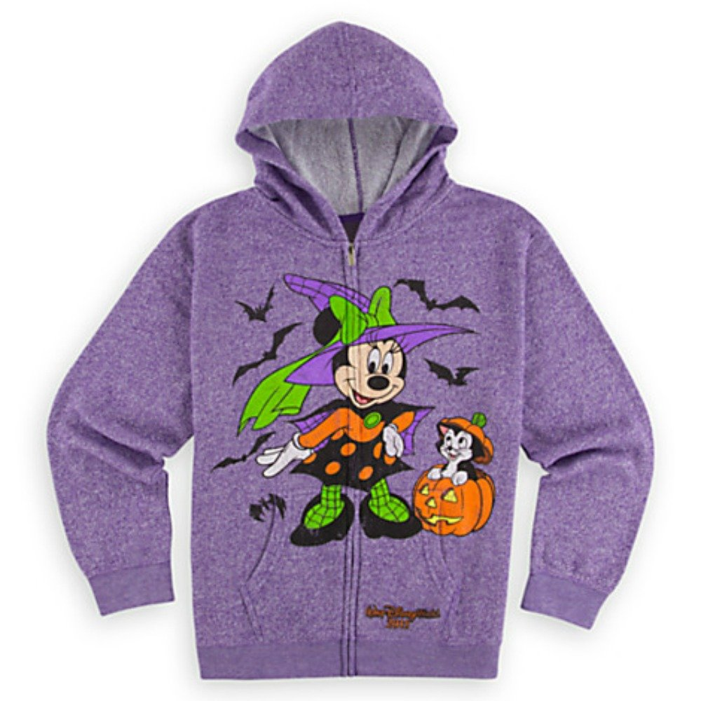 Walt Disney World Minnie Mouse and Figaro Halloween Hoodie for Girls L