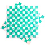Deli Squares - Wax Paper Sheets (12 x 12) (Pack of 100) (Checkered Green)