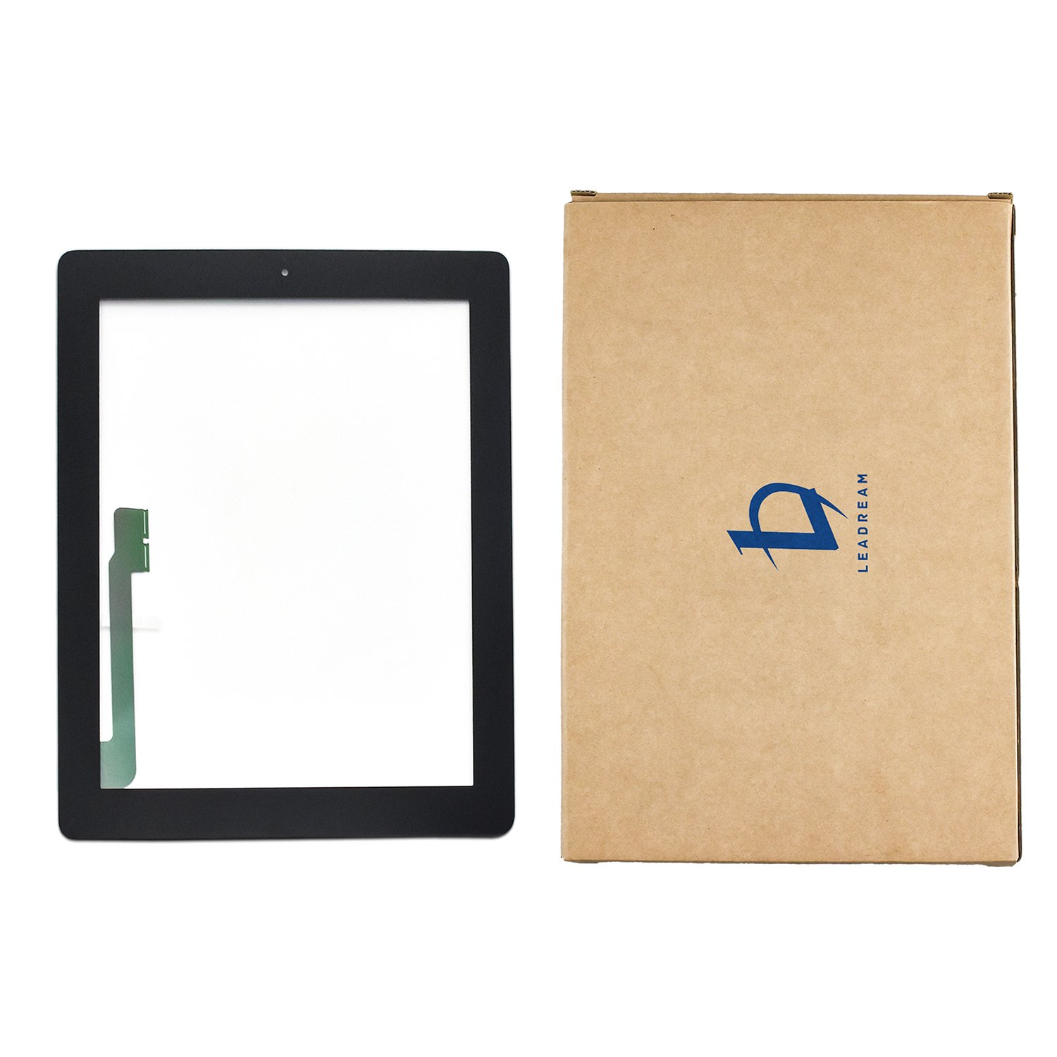 Black Touch Screen Digitizer Assembled with Home Button Strong Adhesive for iPad 3 3rd Generation A1416 A1403 A1430