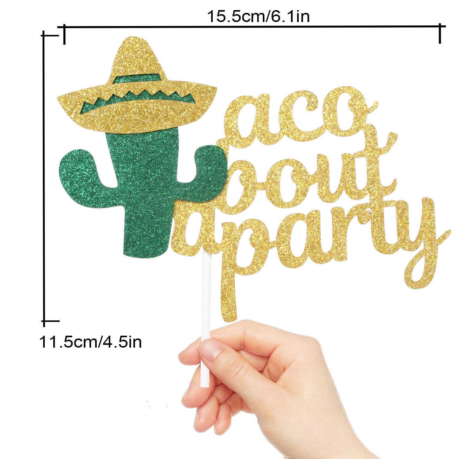 Taco Bout A Party Birthday Cake Topper - Mexican Chilli Festival Carnival Feliz Cumpleanos Cactus Cake Décor - Baby Kids Birthday Thanksgiving Harvest ...