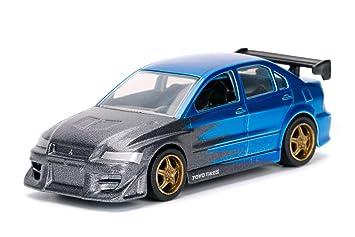 Jada 1/64 Metal JDM TUNERS 2002 Mitsubishi Lancer Evolution 7 Blue Diecast  Toy Car