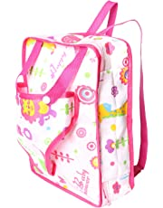 Pack of 1 Lovely Baby Doll Carrier Backpack Baby Carrier Snuggle Travel Storage Bag for Doll Clothes and Accessories Fits 15'' to 18'' Dolls
