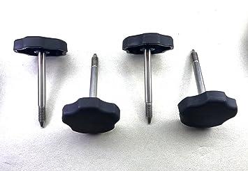 4 ea 2007 to 2017/Jeep Wrangler TJ/Soft Top Door Surround Knob with Pin(Set)
