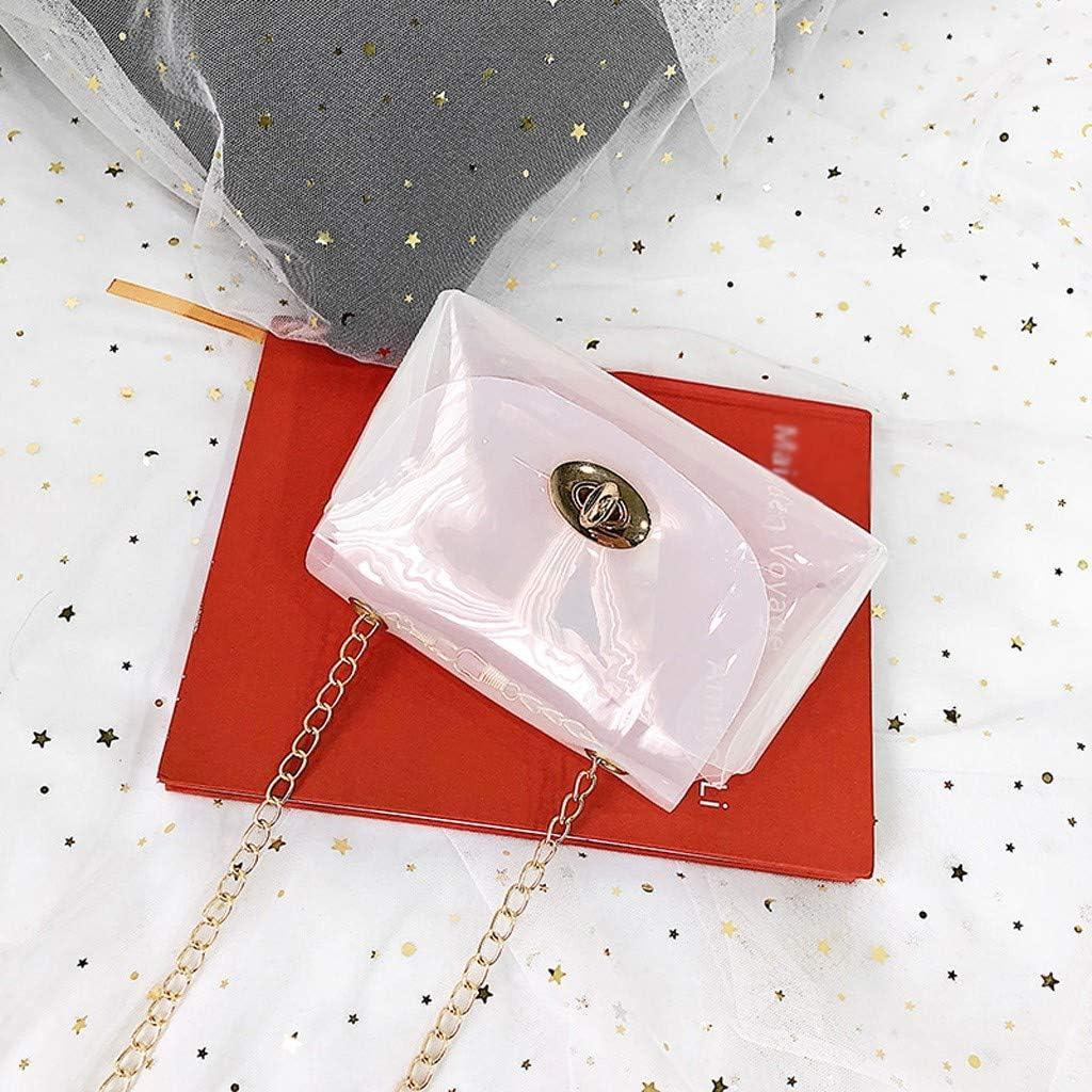 HOYURI Shoulders Bag Fashion Lady Solid Color Elegant Transparent Jelly Wild Messenger Laser Bag Crossbody Totes Hobos Bag