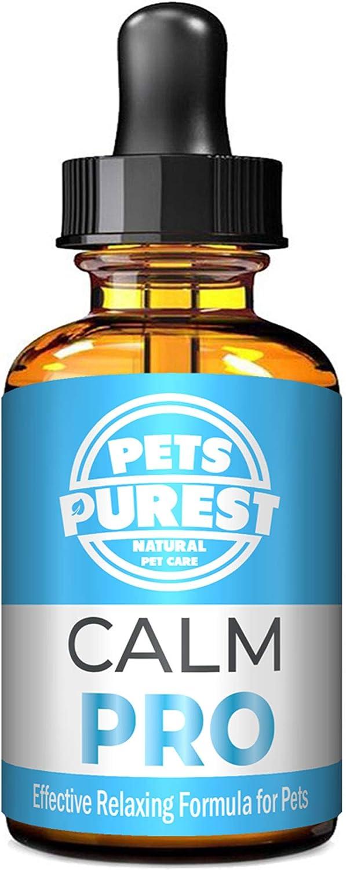 Pets Purest Suplemento 100% Natural Calming Aid para Perros, Gatos y Mascotas. Reduce la ansiedad y el estrés en Sus Mascotas (50 ML)