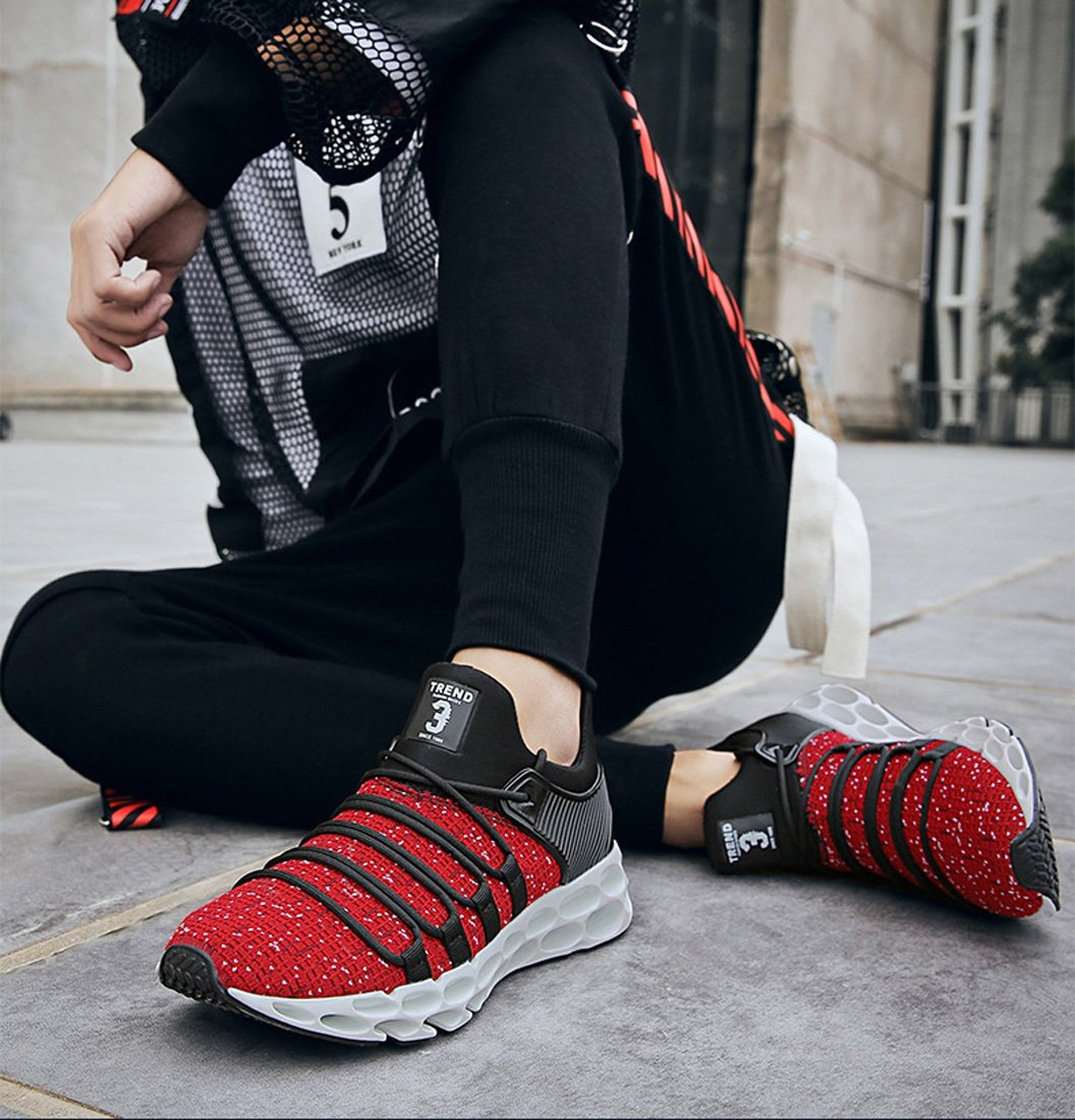 DANDANJIE Laufende Schuhe der Männer Neue Sport-beiläufige Schuhe Jugend-Fliegen-spinnende Maschen-Schuhe Maschen-Schuhe Maschen-Schuhe für Frühlings-Sommer-Fall 3eb4ab