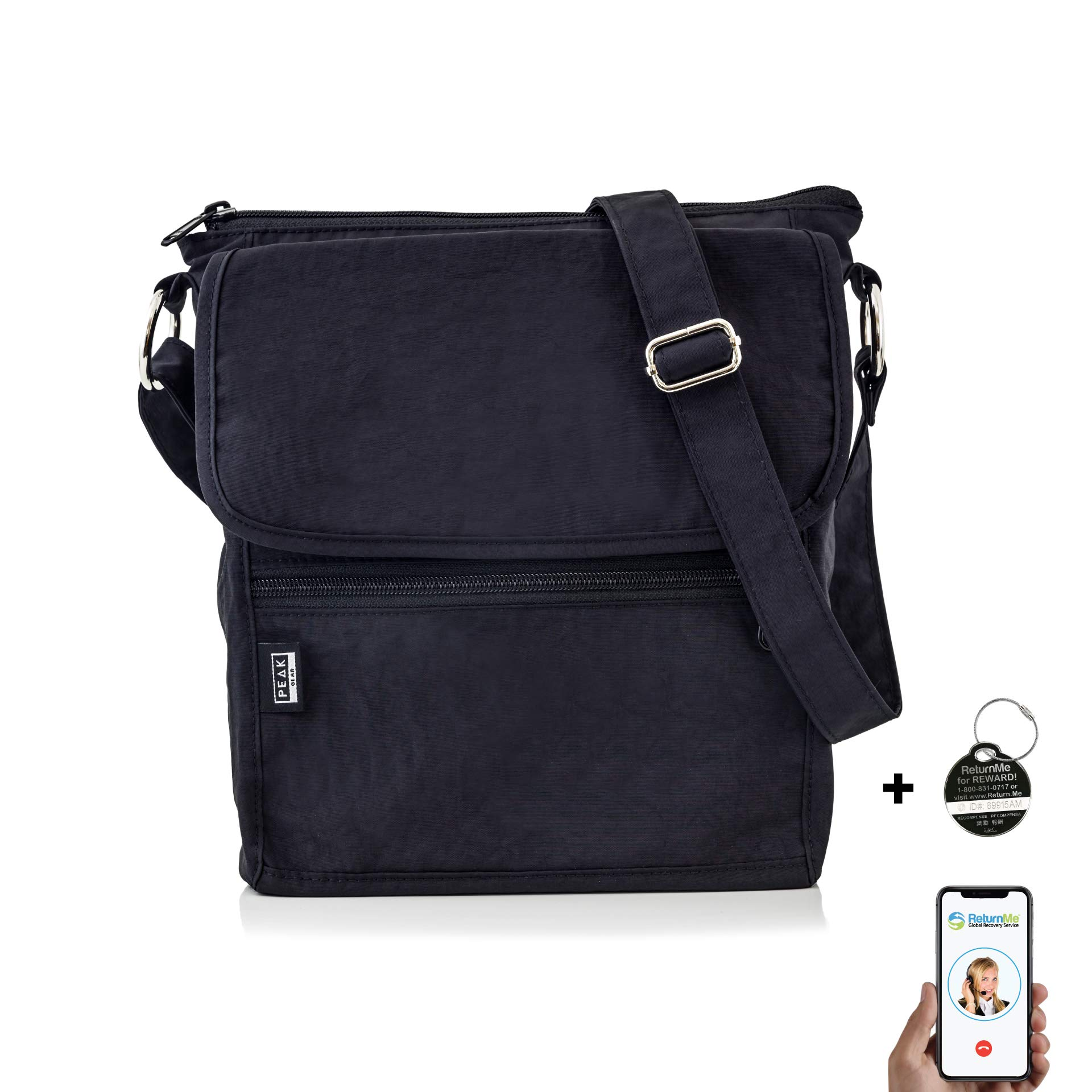 81cc94303 Travel Crossbody Purse - Hidden RFID Pocket - Includes Lifetime Lost &  Found ID product image