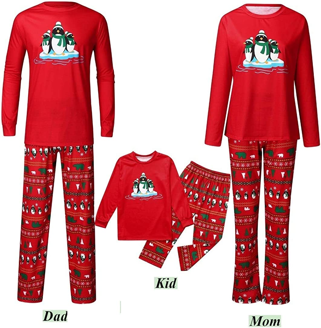 Kehen Matching Family Christmas Pajamas Boys Girls Winter Holiday Jammies Xmas Deer Print Children PJs Gift Set