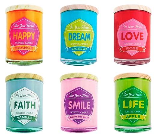 Lote De 20 Velas Frase Coloresfor Home Velas Originales