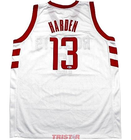 8ef1aebe4 James Harden Signed Autographed Houston Rockets White Custom Jersey TRISTAR  COA