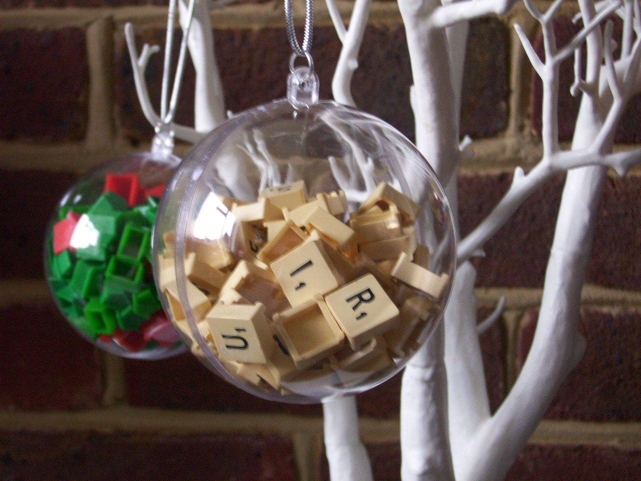 Amazon Com Personalized Travel Scrabble Bauble Christmas