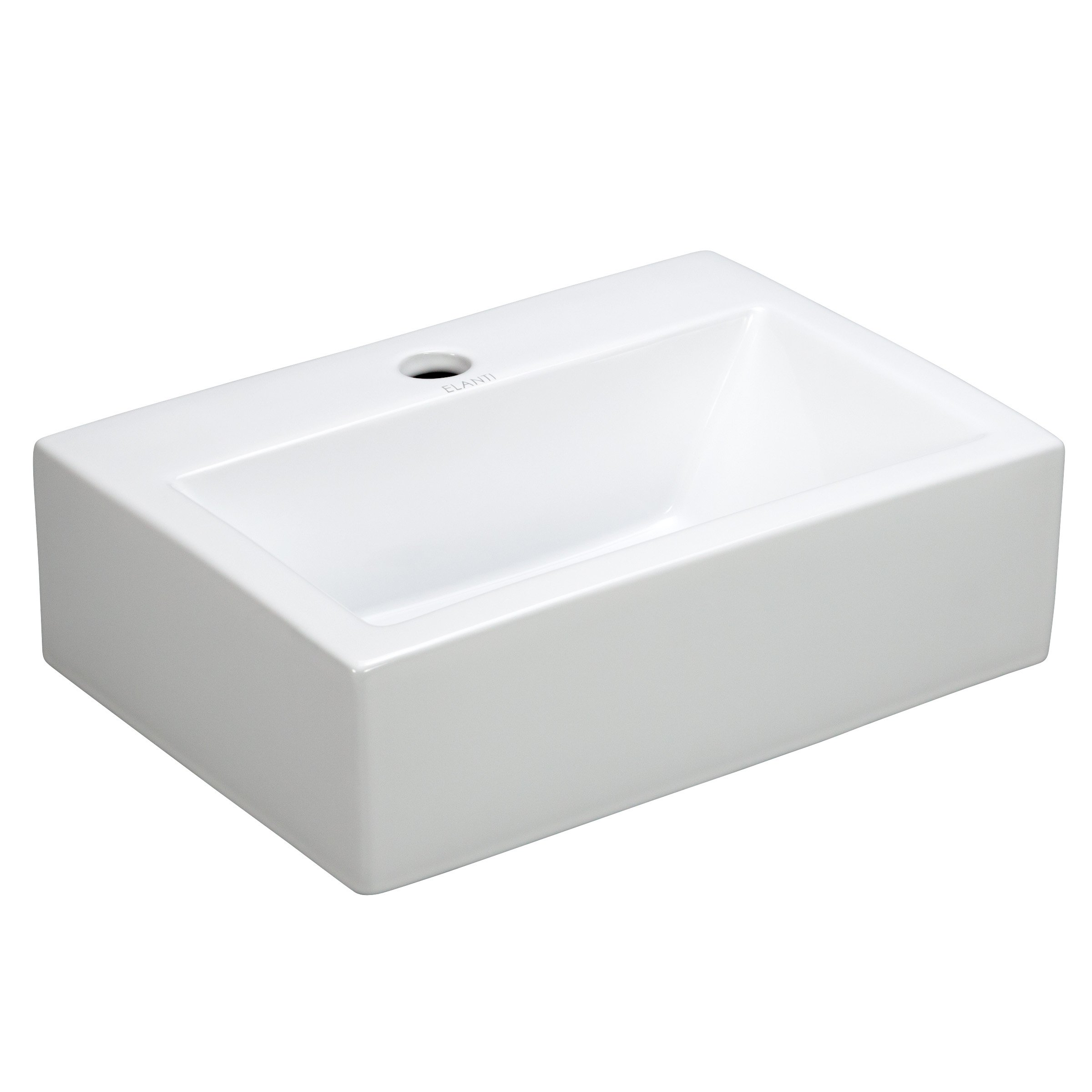 Elite Sinks EC9859 Porcelain Wall-Mounted Rectangle Sink, White by Elite Sinks Ltd.