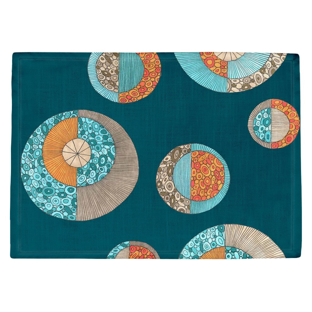 DIANOCHEキッチンPlaceマットby Valerie Lorimer円MCM 2 Set of 4 Placemats PM-ValerieLorimerCirclesMCMII2 Set of 4 Placemats  B01EXSISQW
