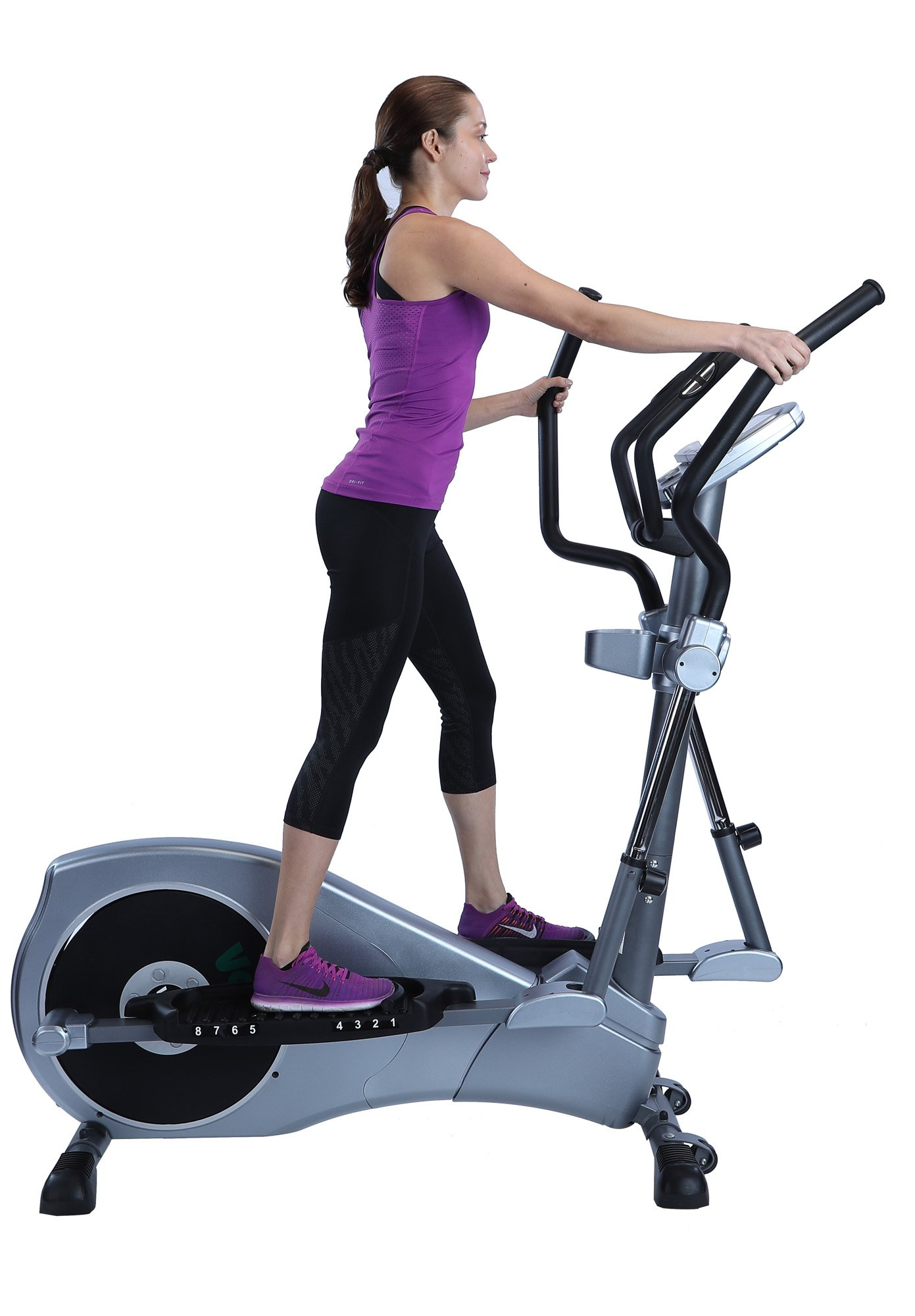 V-450 Standard Stride 17'' Elliptical Exercise Cross Trainer Machine with Adjustable Arms and Pedals and HRC Control Program for Cardio Fitness Strength Conditioning Workout at Home or Gym