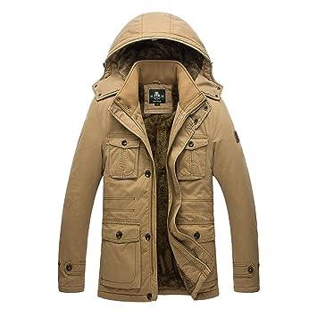 3e40f2d9a03 NJJSR Hommes Vêtements de Coton Manteau Veste Hiver Homme Manteaux Homme  Men s Grande Taille