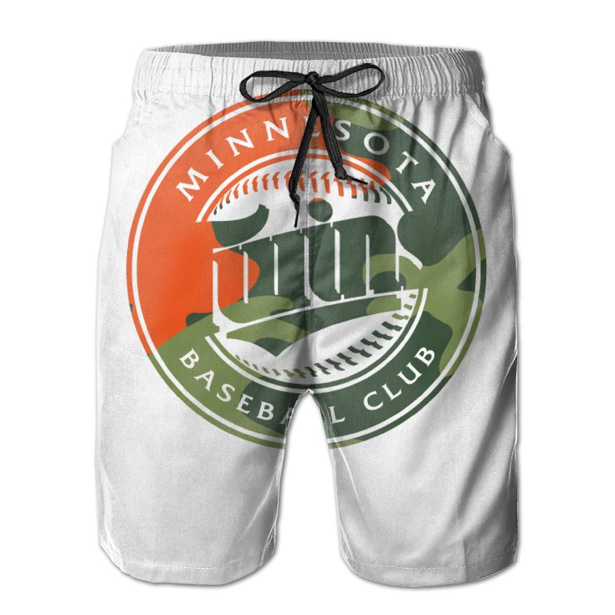 b9c97356a46c5 Poppiy Kelven Men's TwinsScheduleArtcamoLogo Swim Trunks Summer Summer  Summer Holiday Beachwear Quick Dry 9e8e2b