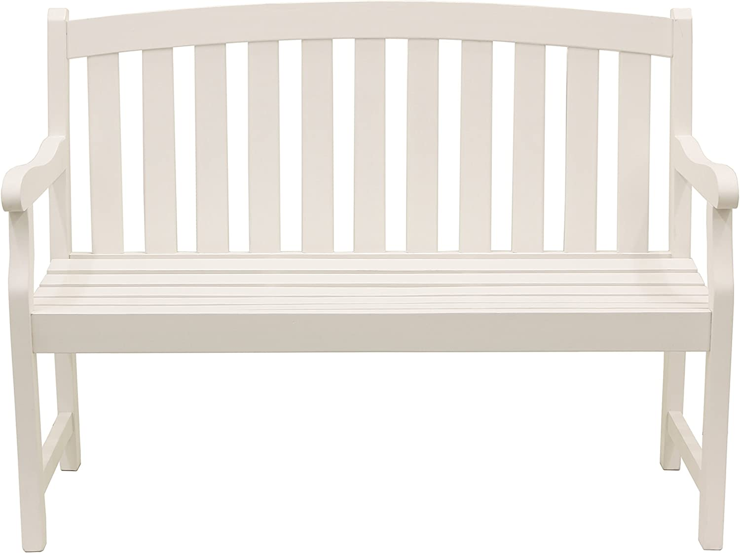 Décor Therapy FR8588 Outdoor Bench, White