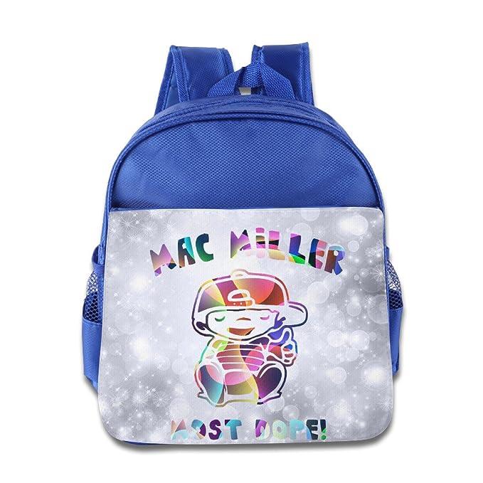 bro-custom Cute Mac Miller mochila para niño y niña de azul eléctrico: Amazon.es: Ropa y accesorios