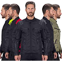 Viking Cycle Ironborn Motorcycle Textile Jacket For Men (Black, X-Small)